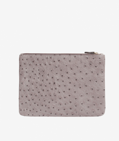 Small Clutch Ostrich Grey