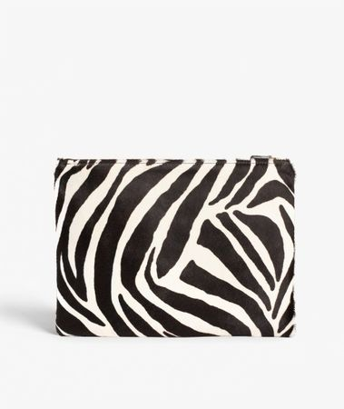 Medium Clutch Pony Zebra Black/White