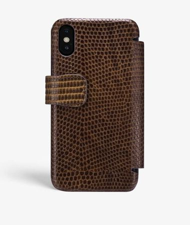 iPhone X/Xs Card Case Varan Brown