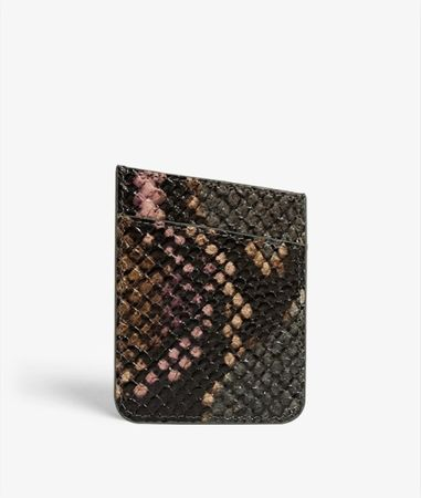 Adhesive Card Holder Python Multicolor