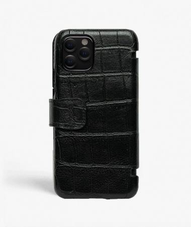 iPhone 11 Pro Card Case Crocodile Black