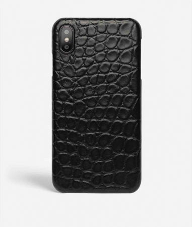 iPhone X/Xs Crocodile Black