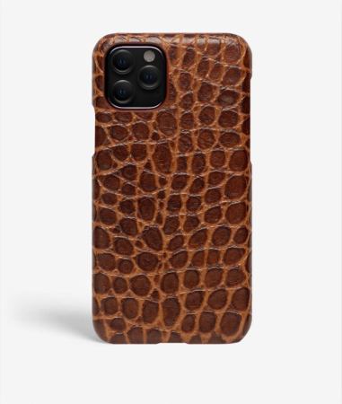 iPhone 11 Pro Crocodile Cognac