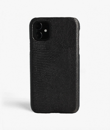 iPhone 11 Leather Case Lizard Black