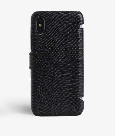 iPhone X/Xs Card Case Lizard Black
