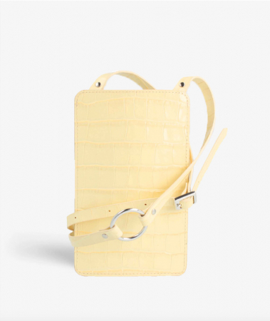 Smart Crossbody Bag Croco Pastel Yellow