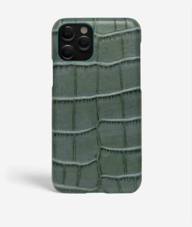 iPhone 11 Pro Max Crocodile Teal Large Pattern