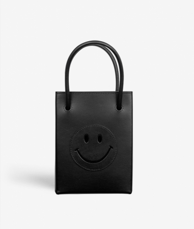 Essential Crossbody Bag Vegetable Tanned Smiley Black