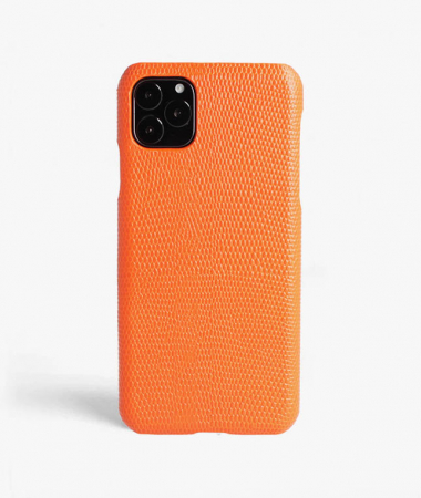 iPhone 11 Pro Max Leather Case Lizard Orange