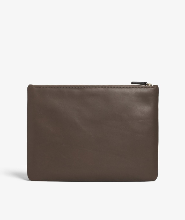 Small Clutch Calf Clay Brown