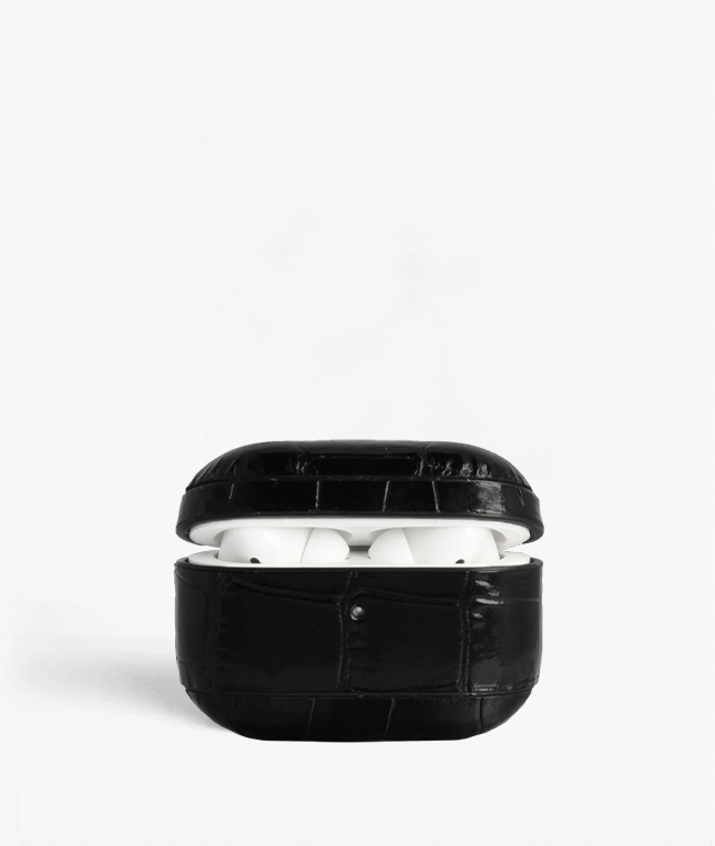 AirPod Pro Case Crocodile Black
