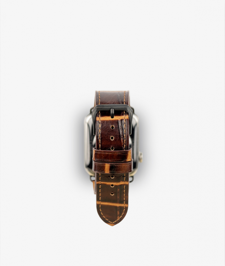 Apple Watch Wristband Crocodile Cognac Scuro