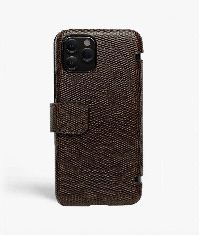 iPhone 11 Pro Card Case Lizard Brown