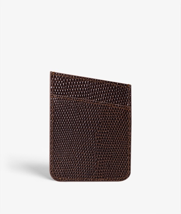 Adhesive Card Holder Lizard Brown